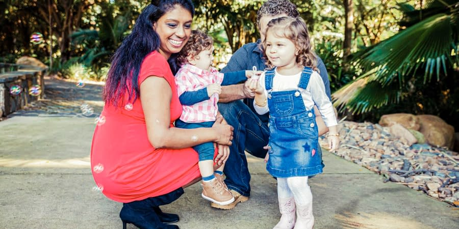Priya & Troy Outdoor Family Session
