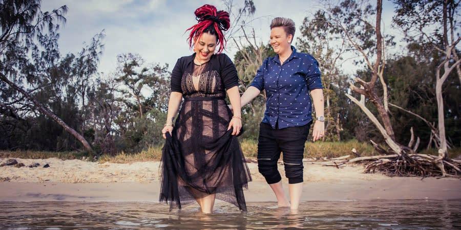 Simone & Jackie's Noosa Beach Engagement